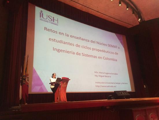 La Coordinadora de Programas en Sistemas fue Ponente en Simposio Internacional en BogotáIUSH